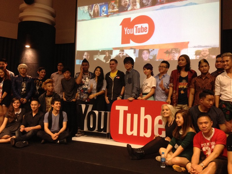 34 stars YouTube réunies ce week-end à Singapour à l'occasion du YouTube FanFest. ©Colombe Prins
