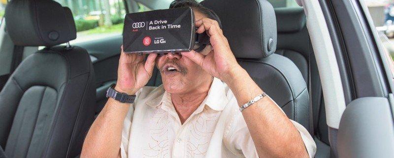 """Campagne publicitaire """"A Drive Back in Time"""" lancée par Audi pour les 50 ans de Singapour. ©Audi"""