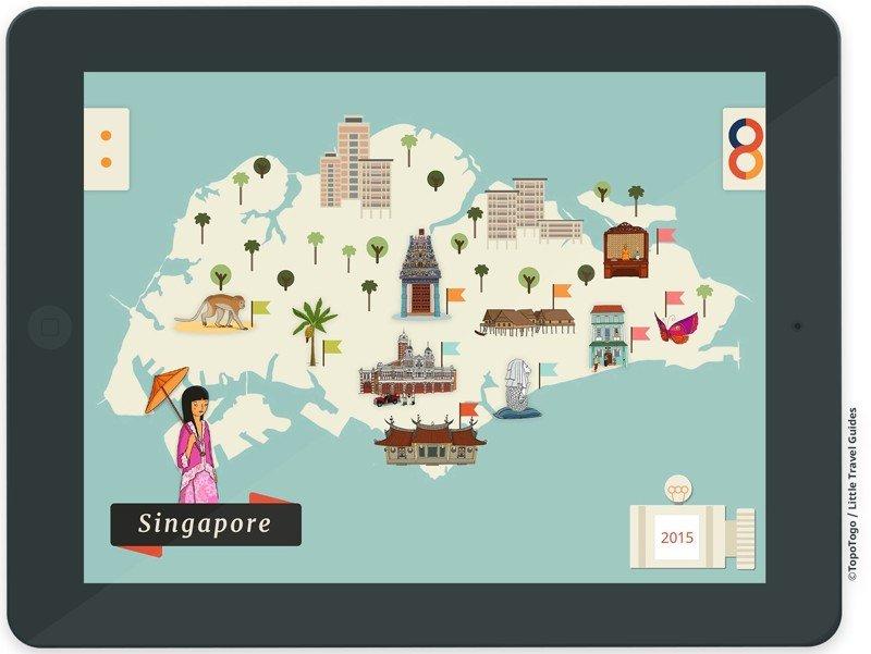 L'app TopoTogo, un guide de voyage dédié à Singapour. ©TopoTogo / Little Travel Guides