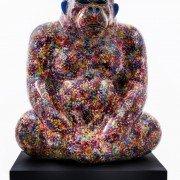 "Love ""Pop"" Bobo Gorilla, oeuvre d'Arnaud et Adeline Nazare-Aga présentée par la galerie Art Porters. ©Artheline - Affordable Art Fair"