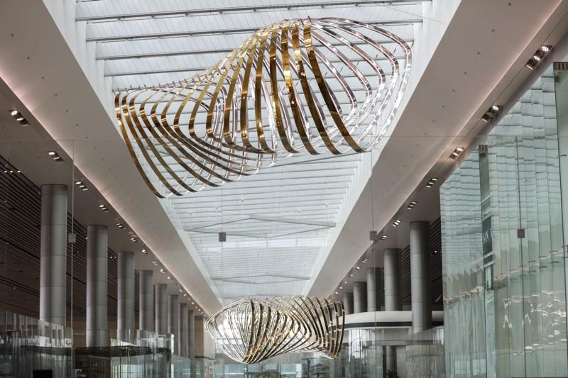 """Les """"Petalclouds"""", l'oeuvre de  ©Changi Airport"""