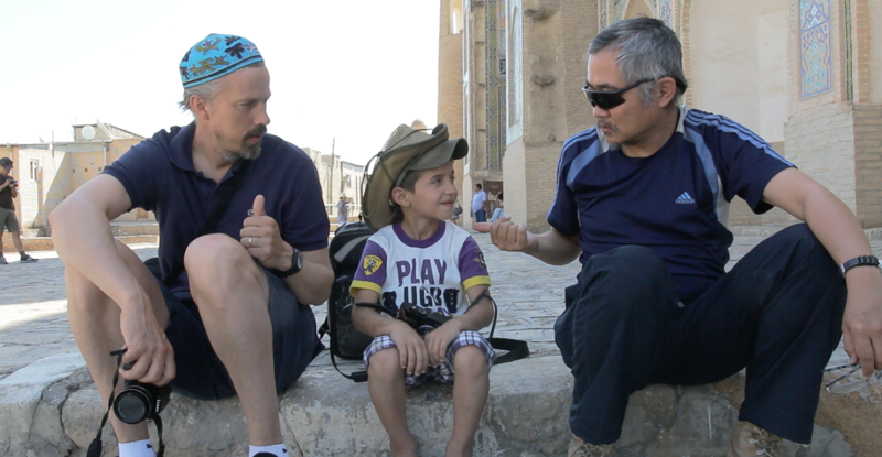Philip Iau et Mickael Hartman à Samarcande, en Ouzbékistan.