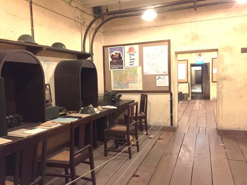A l'intérieur du bunker de la Battle Box. ©Singapore History Consultants Pte Ltd