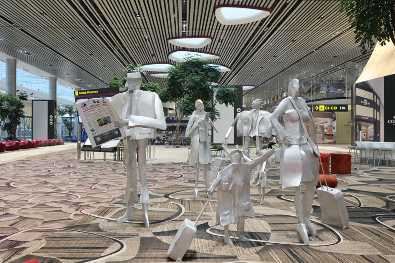"""The Travelling Family"". ©Changi Airport"