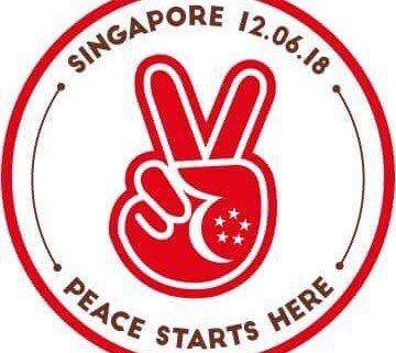 """""""Peace starts here"""", adhésif lancé par l'agence publicitaire Tribal Worldwide Singapore. ©Tribal Worldwide Singapore"""