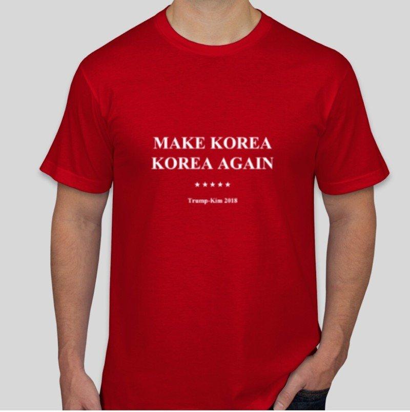 """Tee-shirt """"Make Korea Korea Again"""" conçu par trois étudiants singapouriens. ©Yun Qing Chew"""