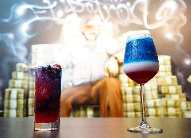 Le Trump cocktail et le Kim cocktail, deux créations lancées par le bar Escobar. ©Escobar