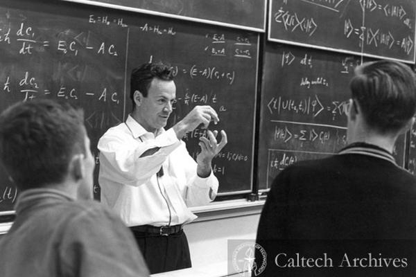 Richard Feynman, physicien américain, lauréat du Prix Nobel en 1965. ©Caltech Archives