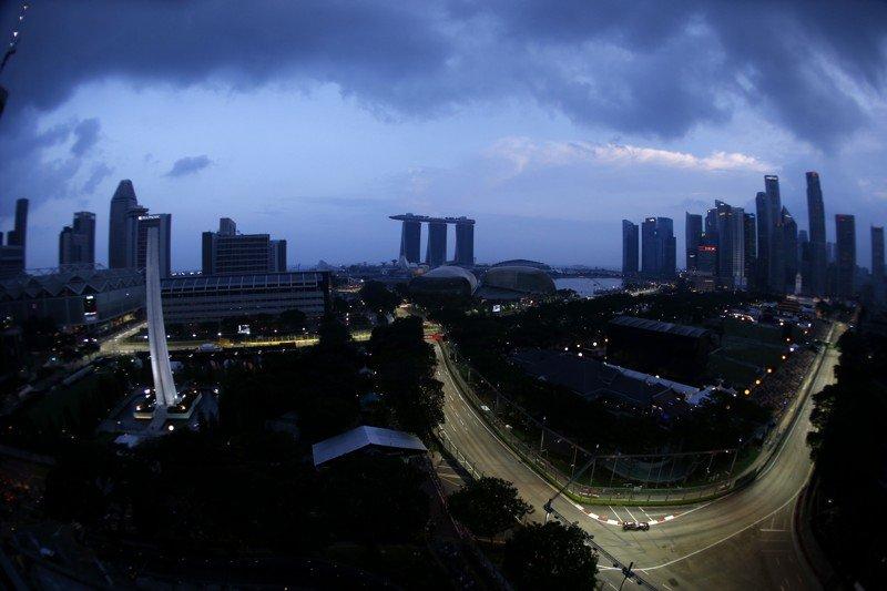 Le circuit de Marina Bay, à Singapour ©Lotus F1 Team /Glenn Dunbar/LAT Photographic.