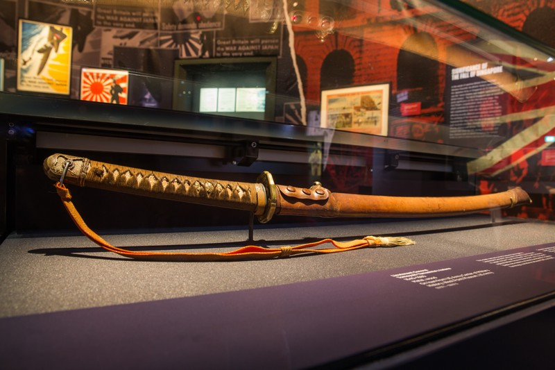 L'épée du Lieutenant-Général Tomoyuki Yamashita est pour la première fois présentée à Singapour. ©National Museum of Singapore