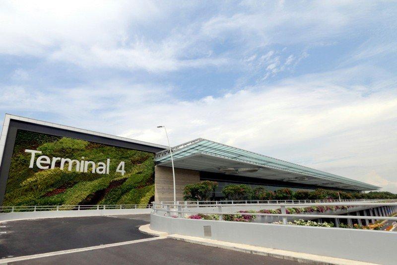 Le mur végétal du Terminal 4. ©Changi Airport