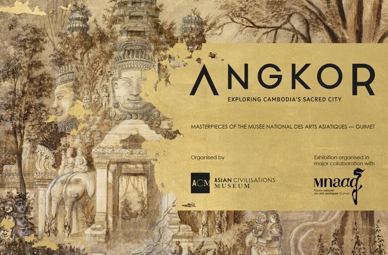 L'exposition « Angkor : Exploring Cambodia's Sacred City. Masterpieces of the Musée national des arts asiatiques –Guimet » est présentée jusqu'au 22 juillet dans le cadre du festival français Voilah ! à Singapour. ©ACM / Musée Guimet